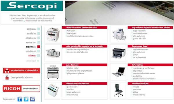 Sercopi Levante, distribuidor oficial de Ricoh