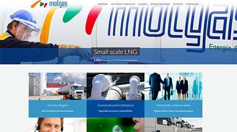 Página Web corporativa de Molgas