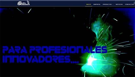 Página Web corporativa de Selfa Soldadura