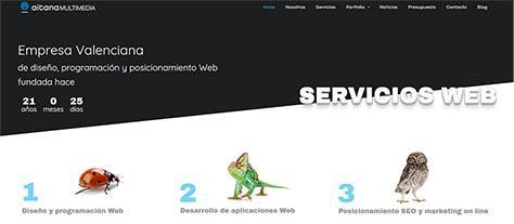 Nueva página Web corporativa de Aitana Multimedia